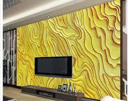 großhandel benutzerdefinierte fototapete ktv gold farbe carving tv hintergrund wand design home decor wohnzimmer wandverkleidung wallpaper01
