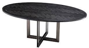 casa padrino luxus esstisch schwarz bronze 200 x 120 x h 76 cm ovaler küchentisch luxus esszimmer möbel