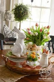 SPRING FARMHOUSE KITCHEN VIGNETTE Spring DecorationsEaster Table