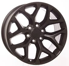 Chevy Style Black And Machined Snowflake 20