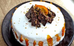 orange creamsicle cake with candied orange peel vegan
