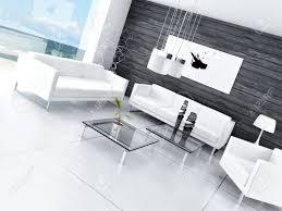 modernes design schwarz weiß wohnzimmer innenraum