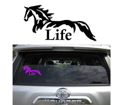 2 QUANTITY Horse Life Vinyl Decal - Variety Of Color Options - Die ... Details About Horse Vinyl Car Sticker Decal Window Laptop Oracal Medieval Knight Jousting Lance Horse Decals Accsories For Car Vinyl Sticker Animal Stickers Made By Stallion Tribal Decal J373 Products Graphics For Trailers I Love My Arabianhorse Vehicle Or Trailer Country Cutie With A Rock N Roll Booty Southern Brand New Carfloat Tack Box 4wd Wall Stickers Wall 23 Decals Laptop Cowgirl And Horse Cartoon Motorcycle Fashion