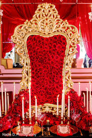 Nigerian Wedding Luxurious Red Gold Decor By Design House