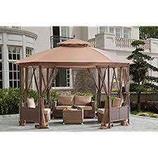 Wilson And Fisher Patio Furniture Cover by Amazon Com Sonoma Outdoor Iron Gazebo Canopy Umbrella W Net