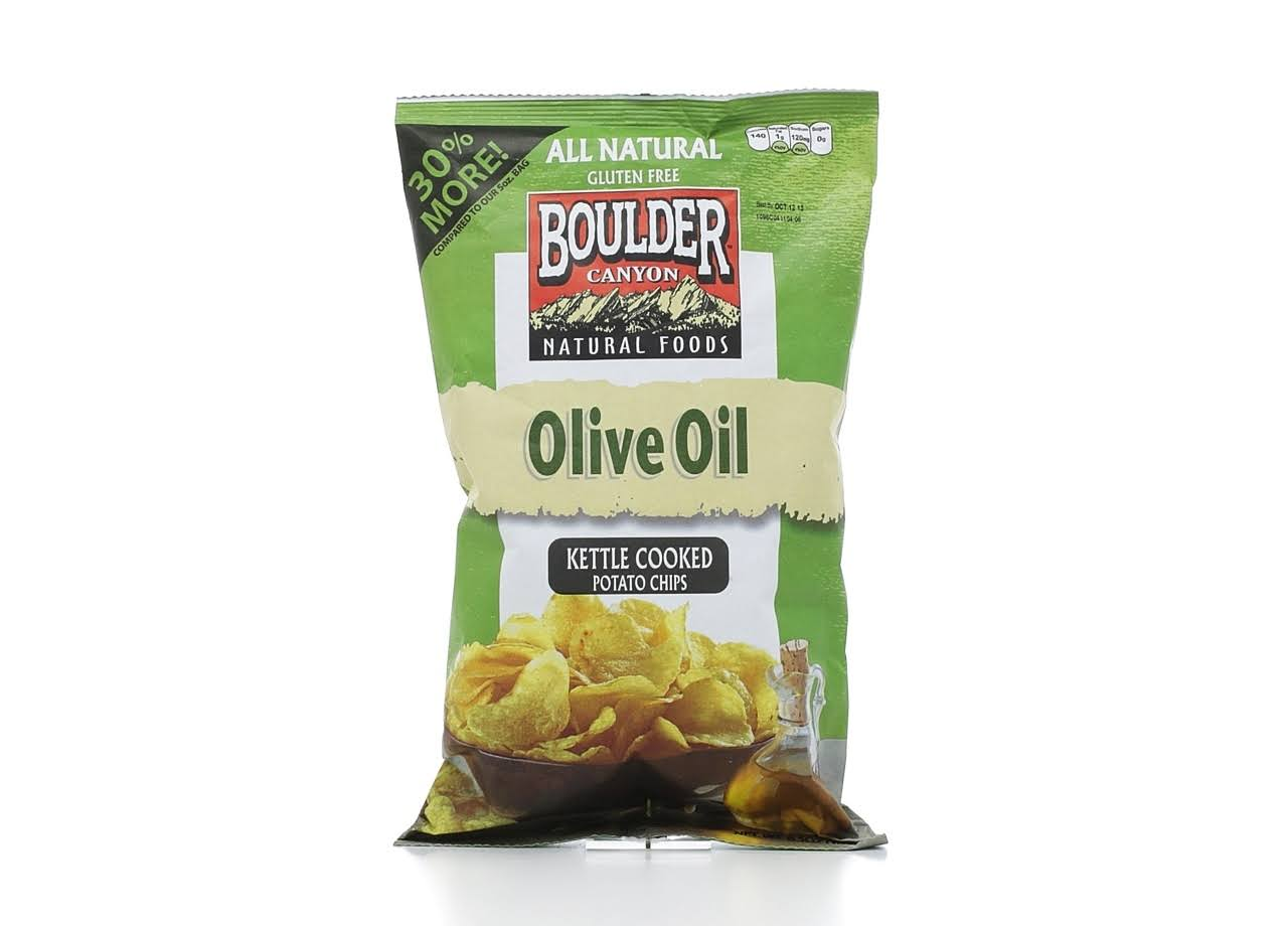 Boulder Canyon Olive Oil Kettle Cooked Potato Chips - 6.5oz, 12pk