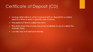 Everything You Need To Know About Certificates Of Deposit CDs