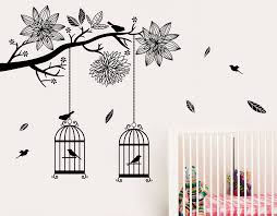 Wall Mural Decals Nursery by Bird Cages In Tree U2013 Your Decal Shop Nz Designer Wall Art Decals