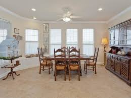 Elegant Dining Room Light Fixtures With Fan And Wood Table