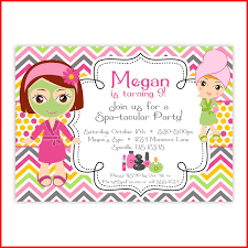Pamper Party Invitations New Old Fashioned Spa Templates Free Crest