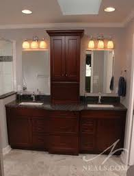 Bathroom Vanity Tower Cabinet by Double Vanities With Towers Center Of This Double Vanity