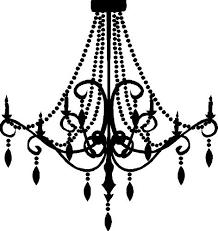 Black Chandelier Clip Art Free Graphic