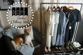 DIY Rustic Clothing Rack Affordable