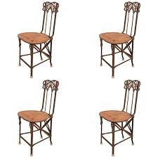 Four Art Nouveau Folding Chairs In Cast Iron-NYShowplace Set Of Six Italian Iron Leather Folding Chairs Circa 1950 Fniture Pair Wood Inessa Stewarts Antiques Millwards Wooden Chair Anthology Vintage Hire Worldantiquenet Old And Danish Made Iron Wood Garden Folding Chair Manssartoux Stock Robinia Spring Outdoor In Fiam Amazoncom Biscottini 2 Antique Handicrafts Directors Style With Frame Sturdy French And Vinterior Antique French Folding Chair Bi3 Portable Seating Multipurpose For