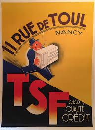 Large 1930s French Ad Poster For TSF Radios