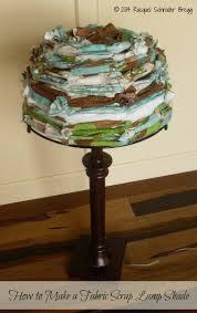 DIY Fabric Lamp Shade Made With Scraps