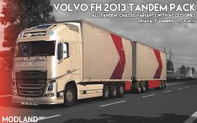 Volvo FH 2013 [ohaha] Tandem And Accessories V 1.1 Mod For ETS 2