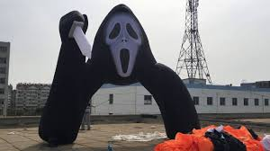Airblown Halloween Inflatable Archway Tunnel by Inflatable Halloween Ghost Skull Devil Arch Youtube