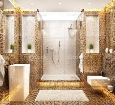 modernes schönes mosaikbad design stockfoto und mehr bilder architektur