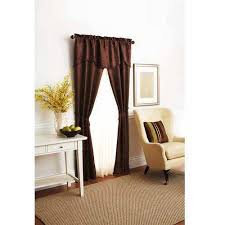 Walmart Mainstay Sheer Curtains by Better Homes And Gardens Damask Scroll Window Curtains Set Of 3