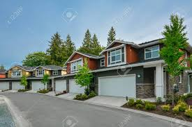 100 Triplex Houses Street Of Brand New Residential Triplex Houses Ready For Moving