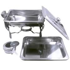 Food Warmer Chafing Dish W Fuel Holder For Catering RECTANGLE