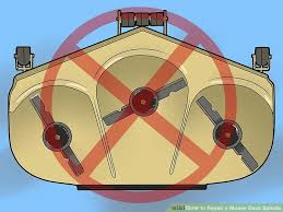 how to repair a mower deck spindle with pictures wikihow