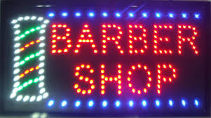 2016 Ultra Bright LED Neon Sign BARBER SHOP Light Animated Neon