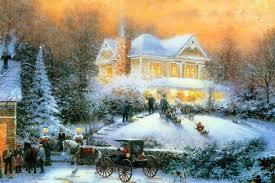 Thomas Kinkade Christmas Tree Train by Thomas Kinkade Christmas Clipart 38
