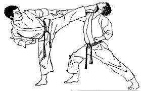 Karate Demonstration Coloring Pages