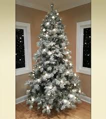 Frosted Elegance Pine Flocked Artificial Christmas Trees