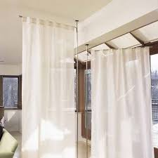 Menards Tension Curtain Rods by Fabric Room Dividers Ideas Lovable Divider Sheer Curtain And 3