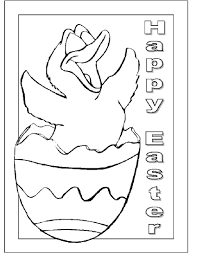 Happy Easter Coloring Pages 04
