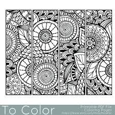 Patrón Para Imprimir Para Colorear Página Marcadores PDF Punts
