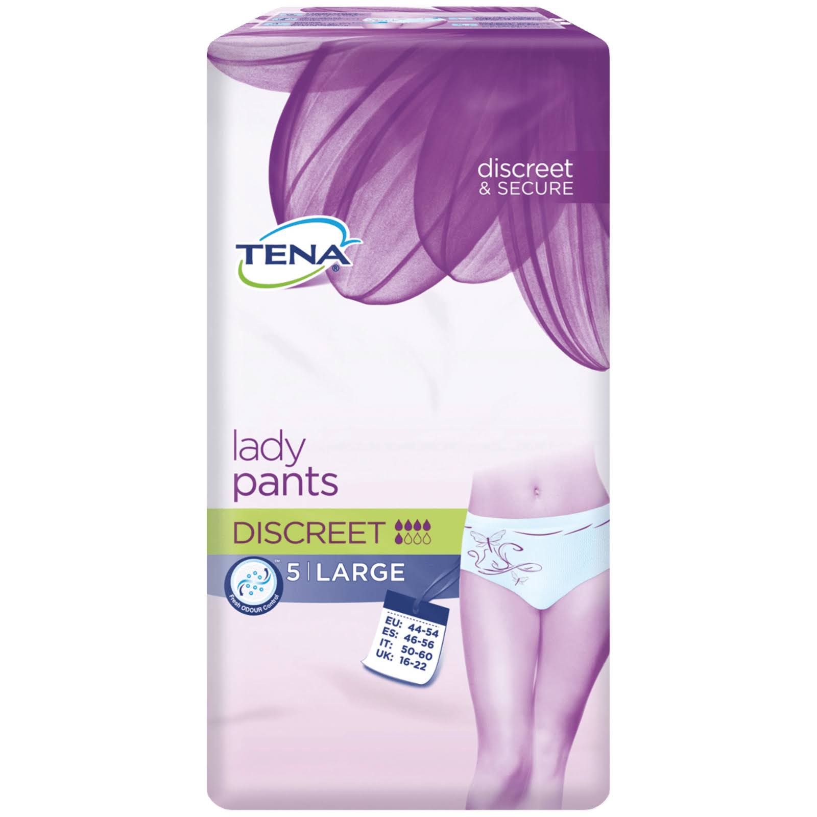 Tena Discreet Lady Pants - Large, 5pcs