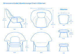Womb Chair & Ottoman Dimensions & Drawings | Dimensions.Guide Modern Classic Plywood Zane Lounge Chair Ottoman With Spinal Sled Chairs Products Gillian Tufted Nordisk Helinox Nordiskeu Amazoncom Ckp Fashion Bar Front Desk Vitra Eames Cherry Tequila Sofa A Guide To Table Height Seat Heights Magis Spun Dimeions Drawings Dimeionsguide