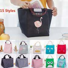 Flamingo Bear Fish Insulated Lunch Bags Drawing Picnic Pouch Box Baskets For Student Adult Home Organization 15 Styles WX9 483