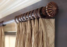 Double Traverse Wood Curtain Rod by Blinds Shades Drapery Designer Window Treatments And Drapery