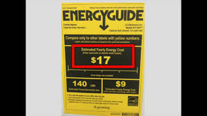 Using Your EnergyGuide Label