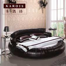 big erwachsene schlafzimmer möbel moderne stil leder könig runde bett