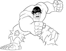 Pin Hulk Clipart Colouring Page 5