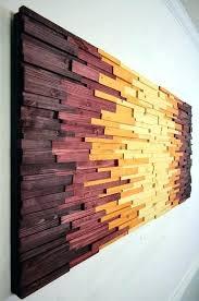 Wooden Wall Art Decor Extraordinary Wood Home