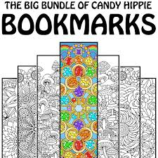 The Big Bookmark Bundle By Candy Hippie Printable Adult Coloring Pages