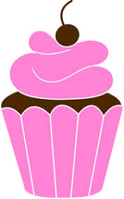 Pink Chocolate cupcakes clipart