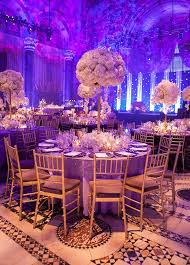 new york wedding colin cowie white purple orchid Cipriani