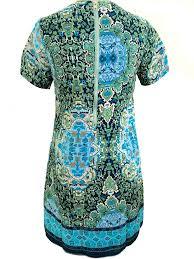 island gypsy scarf print dress multi u2013 daily chic