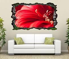 3d wandtattoo rote blume gerbera leidenschaft rot selbstklebend wandbild wohnzimmer wand aufkleber 11l2037 3dwandtattoo24 de