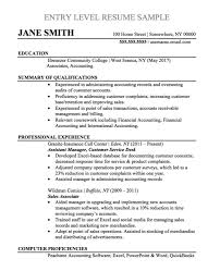 In The Following Entry Level Accountant Resume Sample An Accounting Graduate While Never Having Had Official Position Should Identify