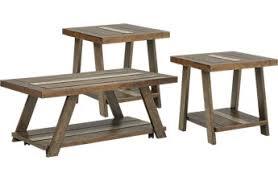 Cedar Creek Brown 3 Pc Table Set