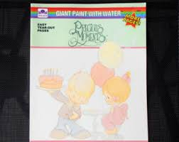 Precious Moments Paint With Water Activity Book